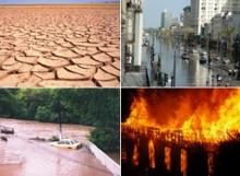 global warming drought flood fire