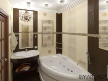 Оформление небольшой ванной комнаты